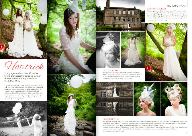 Your Yorkshire Wedding Hat Trick Spread from September 2016