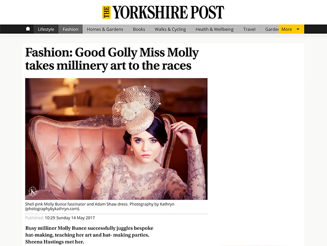 Fashion: Good Golly Miss Molly takes millinery art to the races